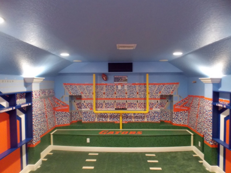 Florida Gators Theme Home Theater Room - Theme Room Design