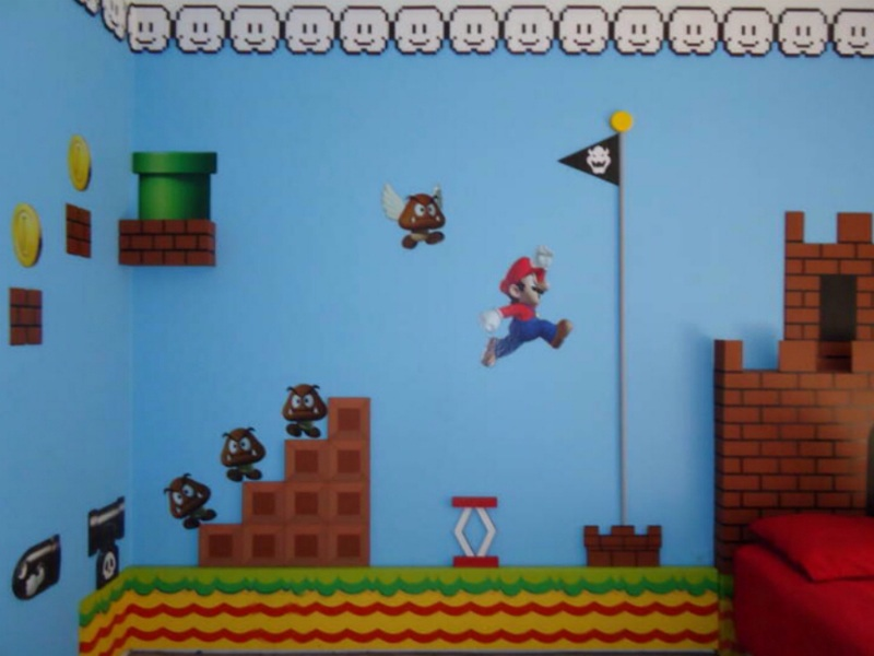 super mario bros flagpole 300x300 super mario bros theme bedroom