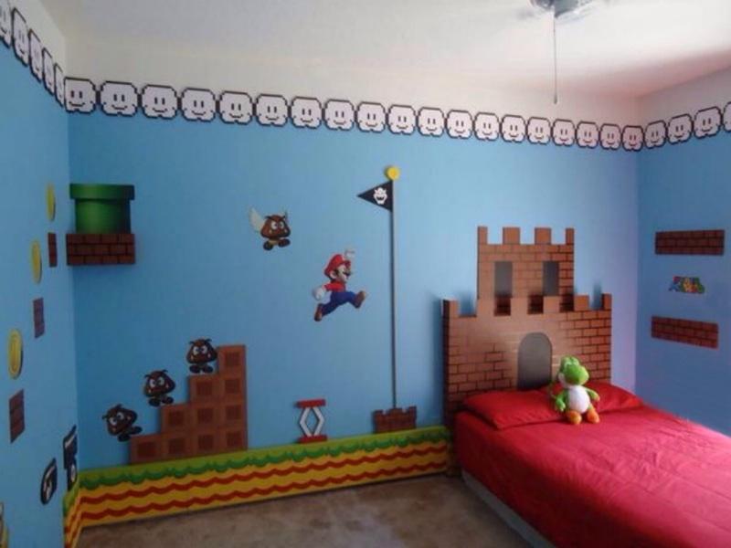 Super mario bedroom for Gator bedroom ideas