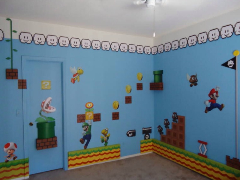 Delightful Super Mario Wall Mural Part 14