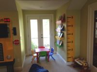 Art area in kids playroom