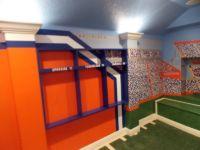 Football Locker Room Shelves