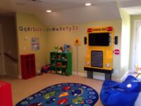 Entertainment area in kids Playroom