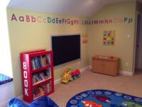 Learning area in kids Playroom