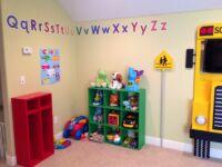 Play corner in kids playroom