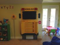 School Bus shelving w/ grill doors