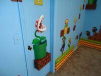 Super Mario Warp Pipe Shelf with Piranha Plant